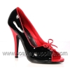 Seduce-216 Black/Red Patent